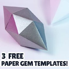 printable paper gem templates!