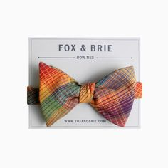 Prisma Plaid bow tie by FoxandBrie on Etsy, $40.00