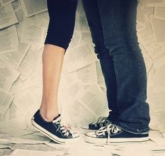 love sneakers | couple, love, shoes - inspiring picture on Favim.com