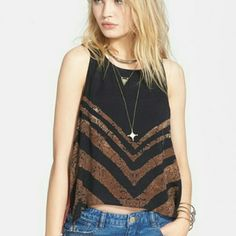 Free People Gorgeous Top COLOR Black Combo Free People Tops Crop Tops