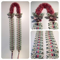 Coronado High School Bow Tie Money Lei