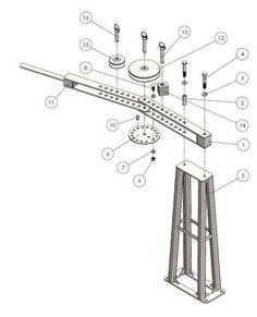 180-degree Manual Tube Bender w/ Degree Wheel & Ecc Roll