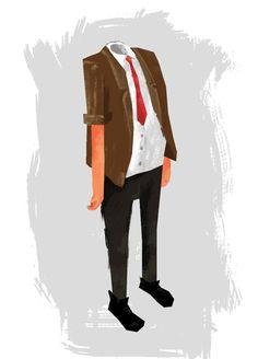 The Body - character design for short film Headless: https://vimeo.com/174536860 created by Rhys Harvey - http://www.rhysharvey.com/