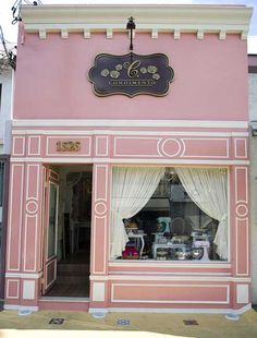Ana rosa · coffee shop · cafeteria vintage · would be cute for the pulaski mercantile bakery design, cafe design, store design, Cafeteria Vintage, Hotel Boutique, Boutique Deco, Café Design, Store Design, Store Concept, Bakery Design, Shop Fronts, Candy Store
