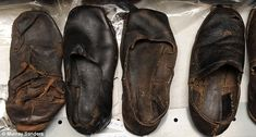 Leather shoes: Some of the more elaborate found on the ship Mary Rose had insoles and even heels. Others had holes cut out to ease the pain of bunions