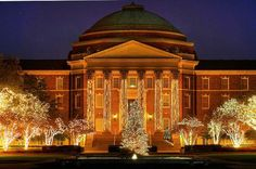 Christmas in Dallas- SMU. Can't wait 'till Dallas Hall looks like this!
