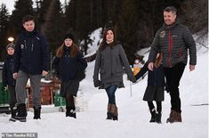 6 January 2020 - Prince Frederik and Princess Mary together with their children in Verbier, Switzerland: the children will attend a period of schooling at the international school Lemania-Verbier Denmark Royal Family, Danish Royal Family, Crown Princess Mary, Prince And Princess, Royal Families Of Europe, Prince Frederik Of Denmark, Prince Frederick, Princess Marie Of Denmark, Queen Margrethe Ii
