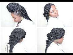 How To: 7 Ways To Style Box Braids 2013