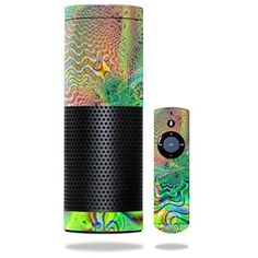 MightySkins Psychedelic Protective Vinyl Skin - www.theteelieblog.com This is designed to fit on your Echo. Get it today. #alexaskin