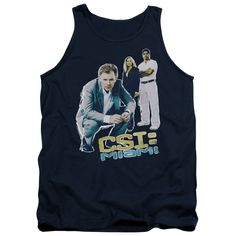 CSI:MIAMI/IN PERSPECTIVE - ADULT TANK - NAVY -