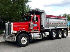 PETERBILT-359. Dump-Truck. U.S.A. Peterbilt Dump Trucks, Peterbilt 359, Tow Truck, Lifted Trucks, Big Trucks, Ford Trucks, Heavy Construction Equipment, Heavy Equipment, Hydraulic Ram