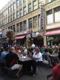 Summertime on 4th Street, Downtown Cleveland.