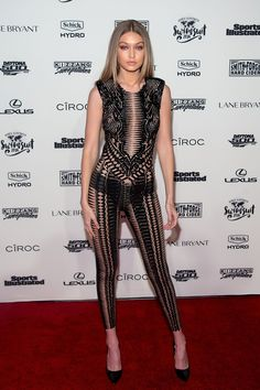 Gigi Hadid Continued Her Run of Impressive Near-Nudity Last Night