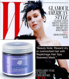 """""""Beauty Note: Reward dry or overworked hair with Repechage Hair Spa Seaweed Mask"""" - As Seen in W Magazine"""