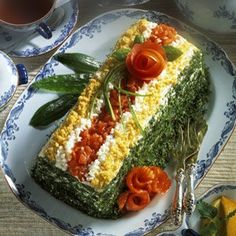 sandwich cake - it's a bit unusual experience for people who expect to taste something sweet, but when it's done properly, it's like a delicious, moist sandwich.