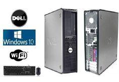 Dell OptiPlex SFF or DT Windows 10 Dual Core 4GB DVD 160GB PC Desktop WiFi ready