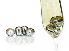 Stainless Steel Wine Pearls will chill your wine, champagne, and favorite drinks without diluting it!