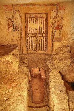 Tarquinia Etruscan painted tombs by Lorana Gallery, via Flickr
