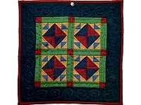 Amish Corn and Beans Miniature Quilt;  Amish Country Quilts