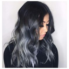 12 Gorgeous Gray/Silver Ombre Hairstyles | Hairstyle Guru ❤ liked on Polyvore featuring b e a u t y, beauty and hair