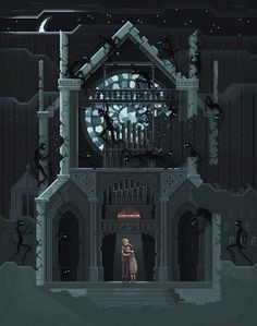 Scene #04: Maybe we should go back… Pixelart Illustration by Octavi Navarro. 2014. http://pixelshuh.tumblr.com