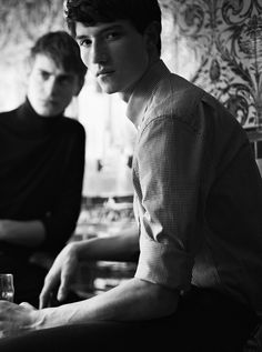 Ben Allen and Jester White by Roger Rich for Hardy Amies FW13.