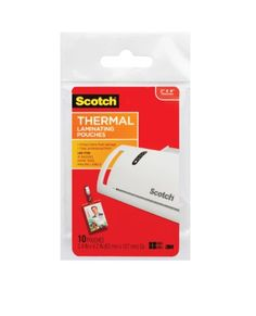 #Scotch #Thermal Laminator Pouches protect documents you handle frequently. These 5 mil thick thermal laminating pouches are for use with thermal laminators to. P...