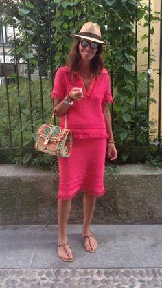 Viviana Volpicella @Tory Burch @borsalino_world @Dolce  Gabbana
