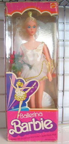 Ballerina Barbie, 1976. Loved her.