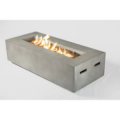 Shop for Concrete Propane Gas Fire Pit Table. Get free delivery On EVERYTHING* Overstock - Your Online Garden & Patio Outlet Store! Propane Fire Pit Table, Fire Table, Wood Burning Fire Pit, Concrete Fire Pits, Stainless Steel Fire Pit, Fire Pit Sets, Natural Gas Fire Pit, Rectangular Fire Pit, Outdoor Loveseat