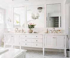 Design a Bathroom Lighting Plan - Ideally you should have wall-mount lights at each side of the mirror at about eye level, with a third light above the mirror. This arrangement illuminates your face from both sides and above, eliminating shadows.
