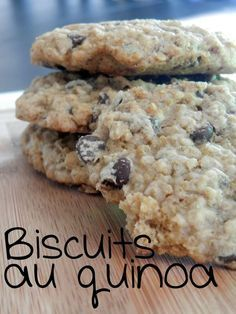 Oatmeal cookies and quinoa with chocolate chips ~ These times in the kitchen Plu . - Samantha Home Desserts With Biscuits, Cookie Desserts, Cookie Recipes, Dessert Recipes, Quinoa Cookies, Oatmeal Cookies, Chocolate Cookies, Chocolate Chips, Biscuit Cake