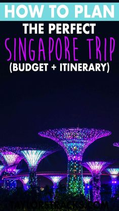 Plan your Singapore trip with this ultimate Singapore itinerary, a Singapore budget, the best places to see in Singapore and the top Singapore attractions. Singapore Travel Tips, Singapore Itinerary, Visit Singapore, Singapore Trip, Singapore Garden, Asia Travel, Solo Travel, Malaysia Travel, Wanderlust Travel