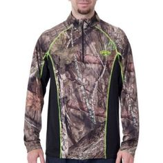 Mossy Oak Men's Performance 1/4 Zip Top, Mo Country, Large