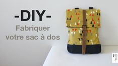 tutoriel couture sac à dos patron cours de couture bretelle doublure Mochila Tutorial, Sewing Tutorials, Sewing Patterns, Tutorial Sewing, Sewing Courses, Diy Backpack, Backpack Pattern, Sewing Class, Fabric Bags