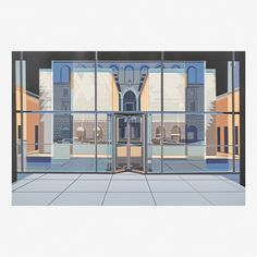 From Rago, Richard Estes, Seagram Building from the Urban Landscapes Screenprint in colors (Kulicke frame) Hyperrealism, Photorealism, Seagram Building, Glass Facades, City Scene, Urban Landscape, Brussels, Landscapes, Artsy