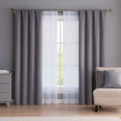 Vcny VCNY Diana Window Curtain & Throw Pillow Set Taking into consideration to room Curtains Living Room, Living Room Decor Curtains, Bedroom Design, Living Room Makeover, Master Bedrooms Decor, Master Bedroom Curtains, Home Curtains, Bedroom Decor, Living Room Grey