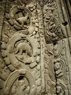 Dinosaurs carved into the Temples of Angkor Wat. I have found NO plausible explanation yet, other than the obvious. Humans dd indeed live along side the dinosaurs.