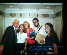 Capital Hill - elevator meeting with Rep Reichert - 2011