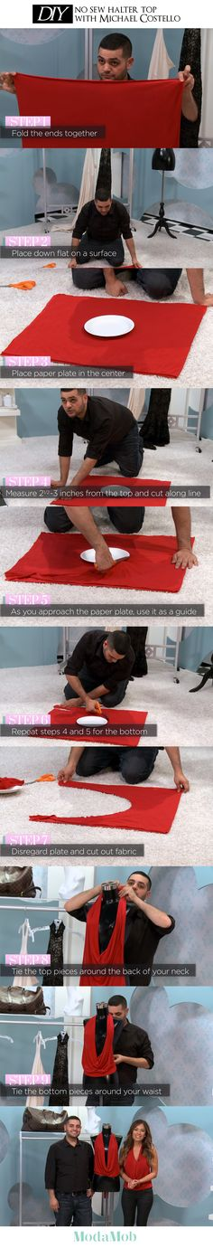 Make a Halter Top with Michael Costello #DIY