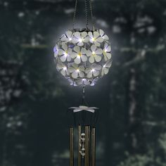 Enjoy the relaxing sounds of this illuminating Solar Hydrangea Wind chime. 32 Individual LED lights will glow as the sun goes down, highlighting each Beautifully hand painted bloom. Makes a wonderful addition to any home! Best Outdoor Furniture, Deck Furniture, Solar Wind Chimes, Outdoor Area Rugs, Outdoor Decor, Swimming Pools Backyard, Patio Design, Beautiful Hands, Hydrangea