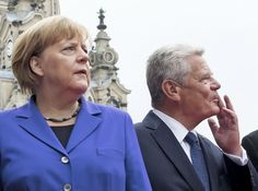 Proteste in Dresden: Merkels härtester Feiertag - SPIEGEL ONLINE - Politik