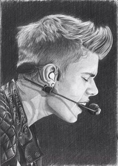 Justin bieber is best. Amazing Drawings, Realistic Drawings, Cartoon Drawings, Drawing Sketches, Drawing Ideas, Pencil Sketching, Pencil Art, Pencil Drawings, Justin Bieber Sketch