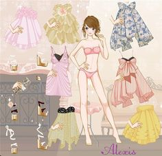 Paper doll - Alexis