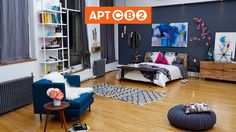 "Athena's Master Bedroom is done today- ""What an incredible experience! Couldn't be happier with the result. A true collaboration. Keep designing with Daniel Bear Hunley tomorrow as he Pins the Living Room! Tour #APTCB2 at www.cb2.com/APTCB2 #workswithCB2"""