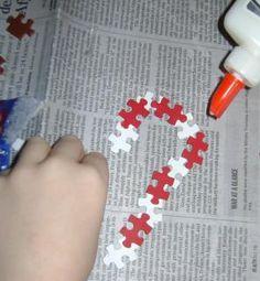 Recycle Puzzle Pieces Into Ornaments-Kids Crafts « Junk Revolution Community - Rescue / Reuse / Reimagine / Inspire