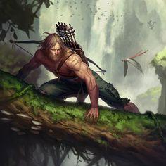"Super Punch: Speaking of odd skins, ""Shipwrecked Green Arrow"" joined Infinite Crisis Fantasy Male, Fantasy Warrior, Fantasy Rpg, Fantasy Artwork, Dark Fantasy, Dnd Characters, Fantasy Characters, Fantasy Character Design, Character Inspiration"