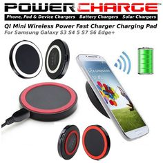 PowerCharge Qi Wireless Charger Mini Charge Pad-Samsung Galaxy S3,4,5,7,6 Edge+ #POwerCharge