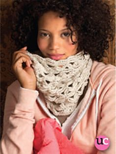 Want this pattern - Infinity cowl scarf knit crochet free pattern snood mobius