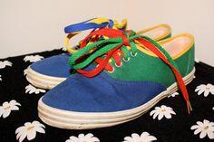 90s Color Block Sneakers by MurdyBurdy on Etsy, $20.00 /// www.art-by-ken.com